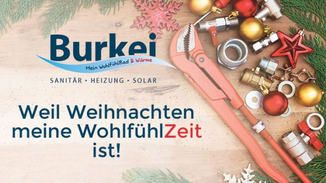 Burkei Mein WohlfühlBad & Wärme wünscht frohe Weihnachten